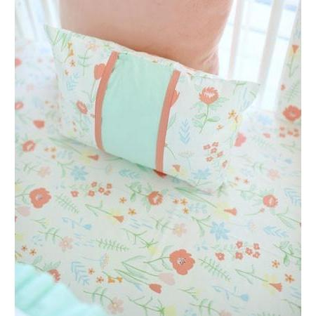 Crib Sheet | Mint Spring Floral Crib Baby Bedding Set-Crib Sheets-Default-Jack and Jill Boutique