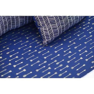 Crib Sheet | Navy & Gold Arrow Go Your Own Way Crib Baby Bedding Set-Crib Sheets-Default-Jack and Jill Boutique