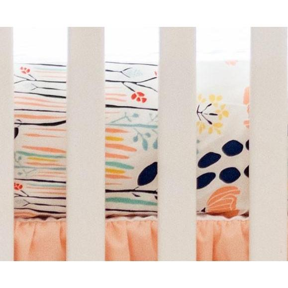 Crib Sheet | Peach Floral - Summer Grove-Crib Sheets-Default-Jack and Jill Boutique