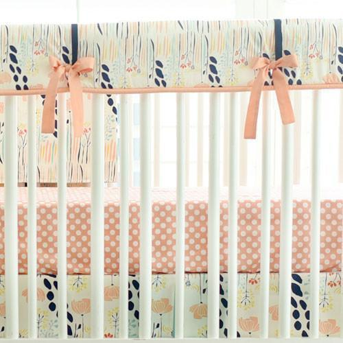 Crib Sheet | Peach Polka Dot - Summer Grove