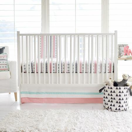 Crib Sheet | Pink Cheyenne Crib Baby Bedding