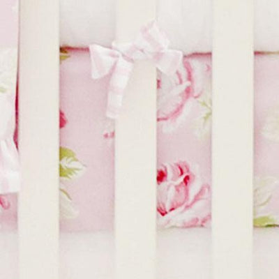 Crib Sheet | Pink Floral Desert Rose Crib Bedding Collection-Crib Sheets-Default-Jack and Jill Boutique