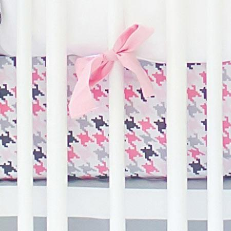 Crib Sheet | Pink & Gray Paper Moon Crib Baby Bedding Set