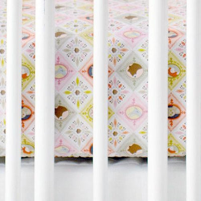 Crib Sheet - Pink Patchwork Woodland | Born Wild in Pink-Crib Sheets-Default-Jack and Jill Boutique