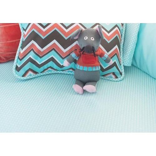 Crib Sheet | Piper in Aqua Crib Baby Bedding Set