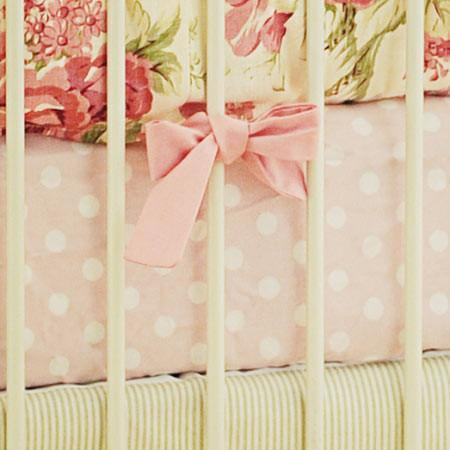 Crib Sheet | Roses for Bella Crib Baby Bedding Set