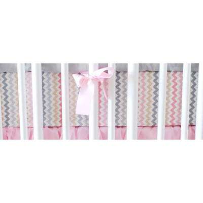 Crib Sheet | Sophie Pink and Khaki Crib Baby Bedding Set-Crib Sheets-Default-Jack and Jill Boutique