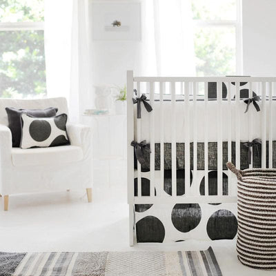 Crib Sheet | Spot On Charcoal Crib Baby Bedding Set-Crib Sheets-Default-Jack and Jill Boutique