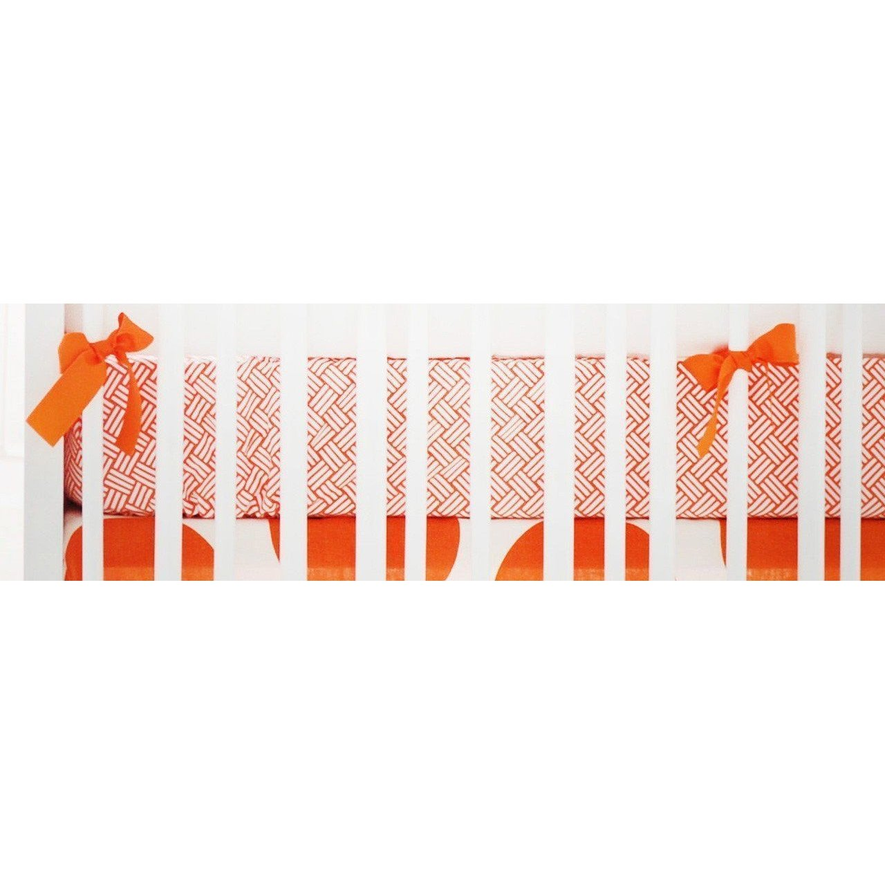 Crib Sheet | Spot On Tangerine Crib Baby Bedding Set-Crib Sheets-Default-Jack and Jill Boutique