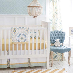 Crib Sheet | Starburst in Gold Crib Baby Bedding Set-Crib Sheets-New Arrivals-Jack and Jill Boutique