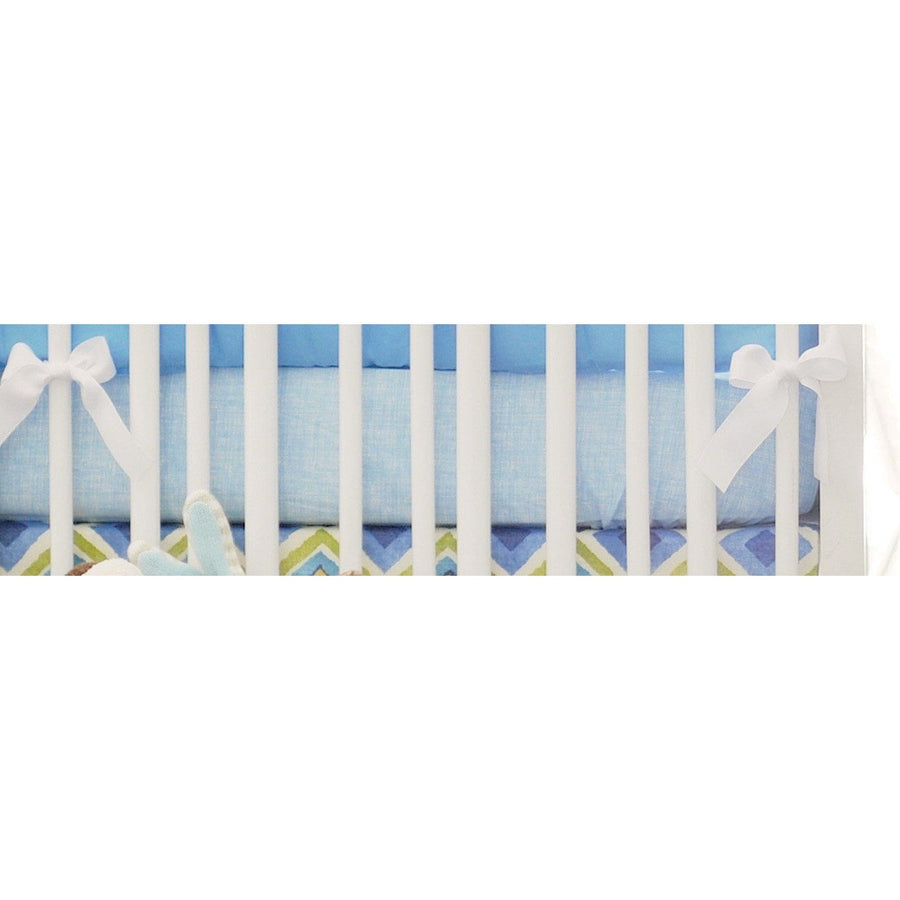 Crib Sheet | Street of Dreams Blue and Yellow Crib Baby Bedding Set