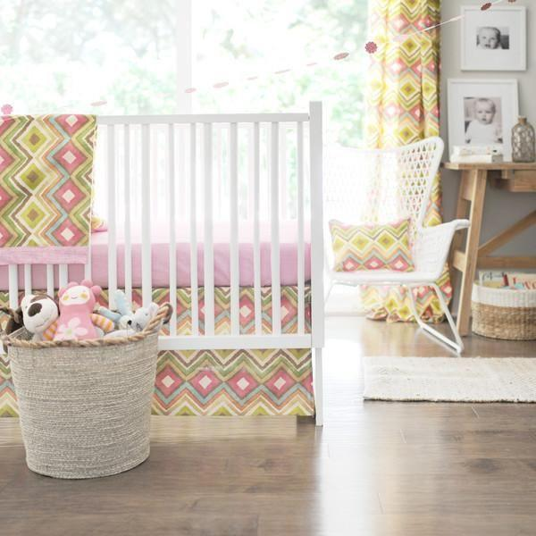 Crib Sheet | Street of Dreams Pink and Yellow Crib Baby Bedding Set-Crib Sheets-Default-Jack and Jill Boutique