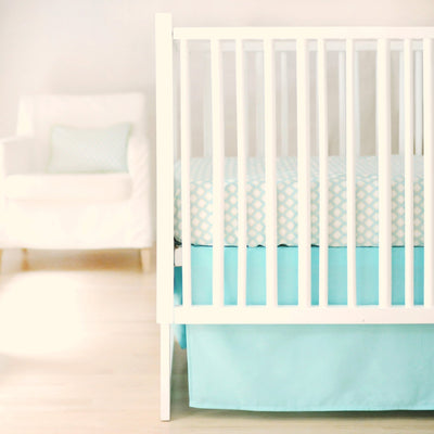 Crib Sheet | Sweet & Simple Aqua Crib Baby Bedding Set-Crib Sheets-Default-Jack and Jill Boutique