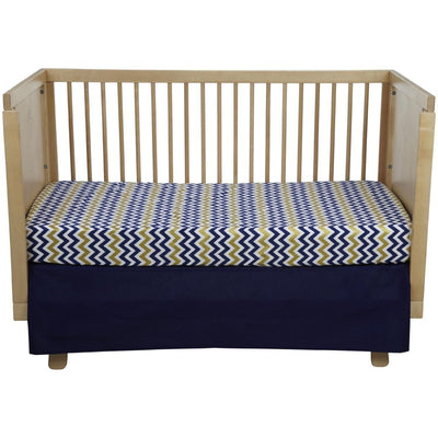 Crib Sheet | Sweet & Simple Seperates - Golden Days in Navy Crib Baby Bedding Set-Crib Sheets-Default-Jack and Jill Boutique