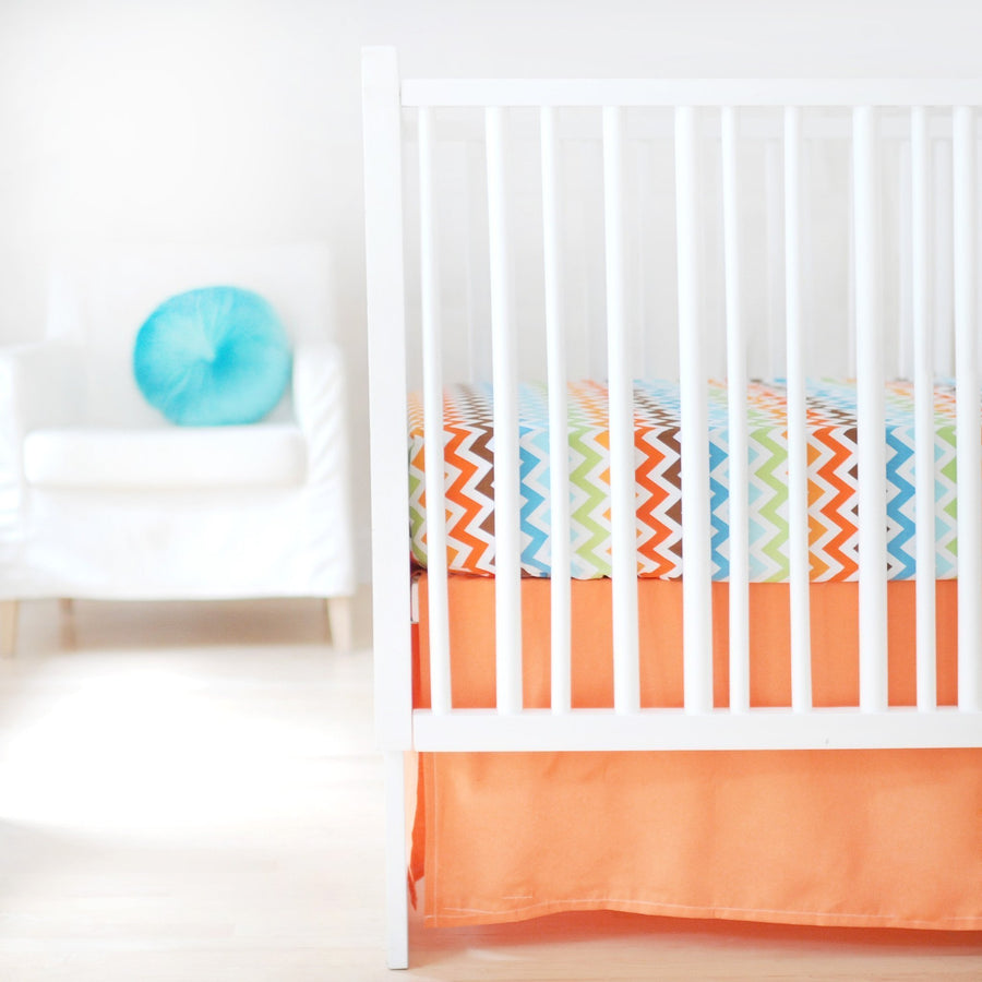 Crib Sheet | Sweet & Simple Seperates - Orange Crib Baby Bedding Set-Crib Sheets-Default-Jack and Jill Boutique