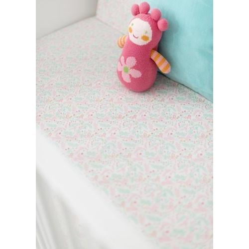 Crib Sheet | Unicorn Magic Folk in Aqua-Crib Sheets-Default-Jack and Jill Boutique