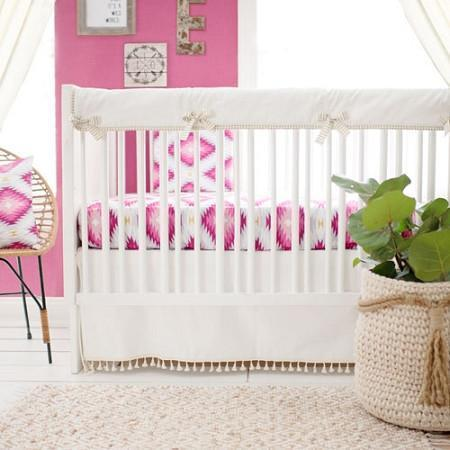 Crib Sheet | Wander in Pink Crib Baby Bedding Set