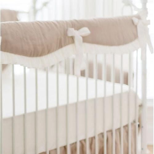 Crib Sheet | Washed Linen in Ivory
