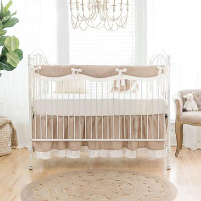 Crib Sheet | Washed Linen in Natural-Crib Sheets-Default-Jack and Jill Boutique
