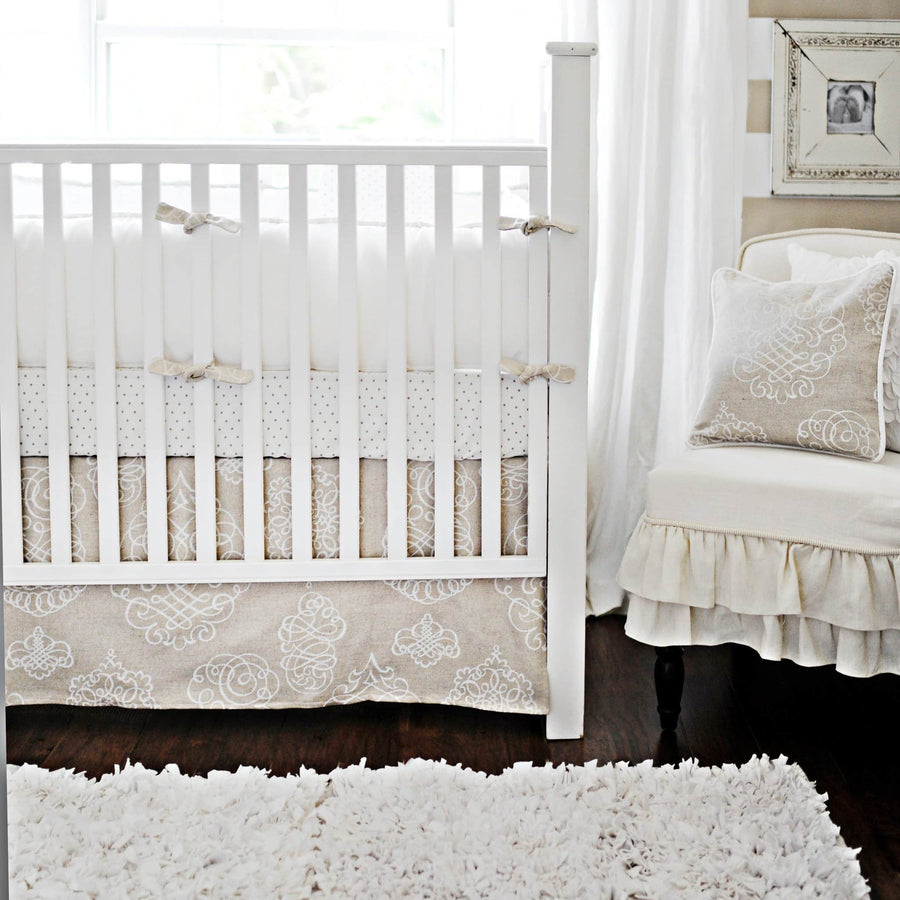 Crib Sheet | White Pebble Moon Crib Baby Bedding Set-Crib Sheets-Default-Jack and Jill Boutique