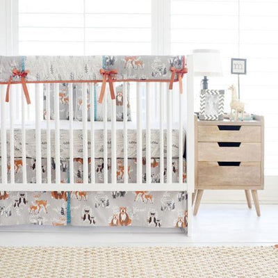 Crib Sheet | Woodland Oh Hello Fog Crib Baby Bedding Set-Crib Sheets-Default-Jack and Jill Boutique