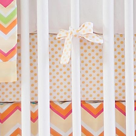 Crib Sheet | Yellow & Pink Chevron Sunnyside Up Crib Baby Bedding Set