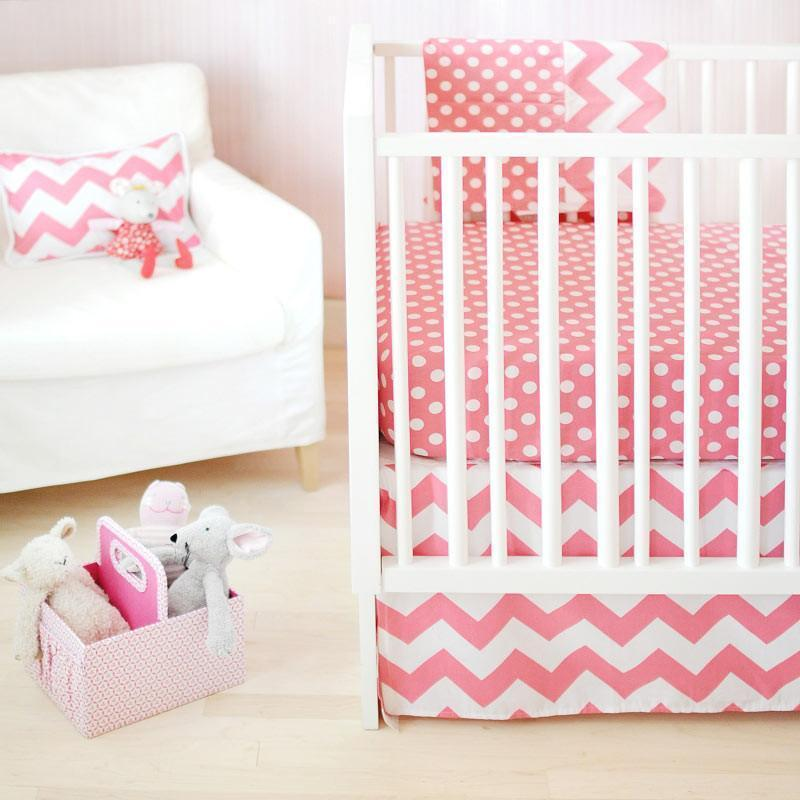 Crib Sheet | Zig Zag Baby in Hot Pink Crib Baby Bedding Set