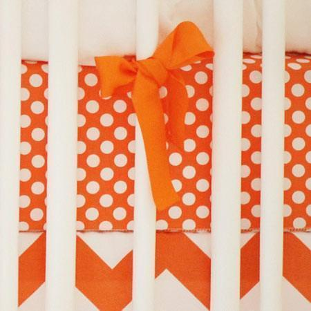 Crib Sheet | Zig Zag Baby in Tangerine Crib Baby Bedding Set