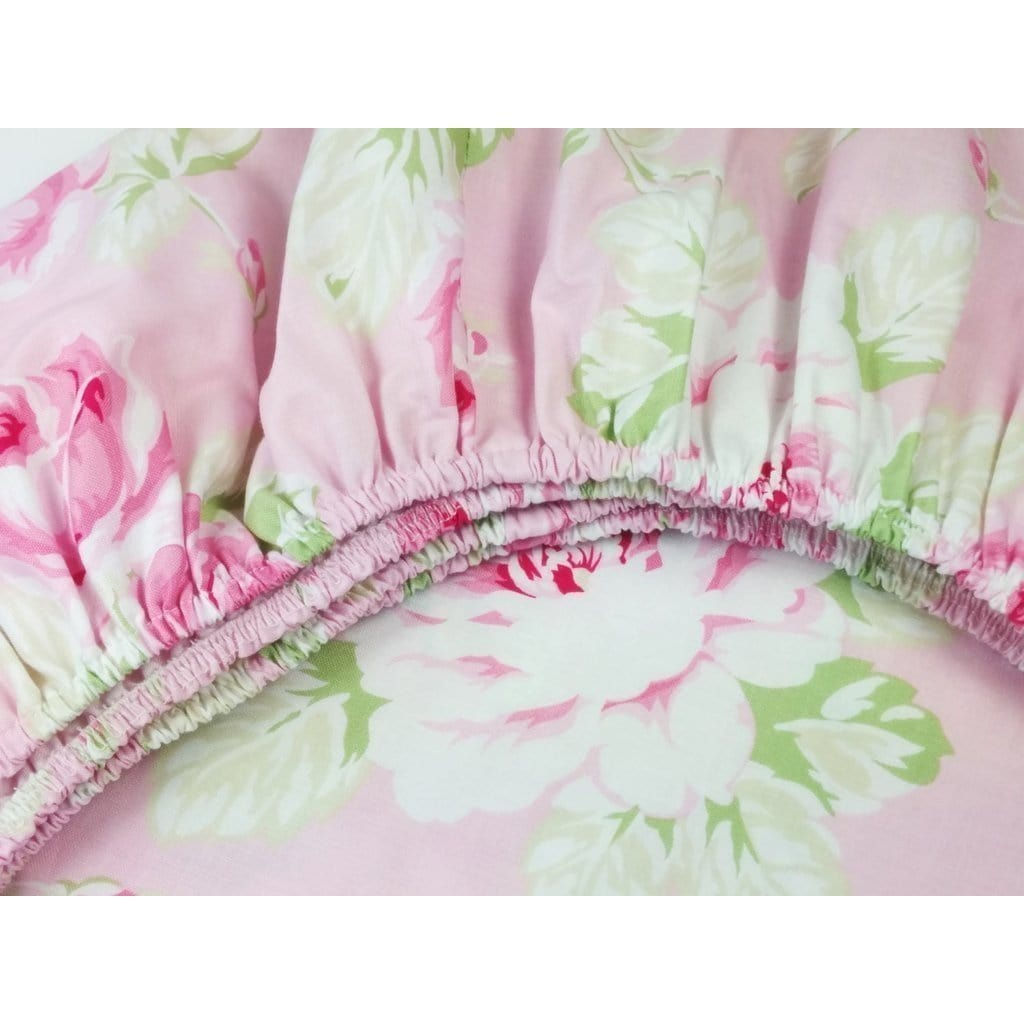 Crib Sheets | Shabby Chic Roses Ruffle-Crib Sheets-Bold Bedding-Jack and Jill Boutique