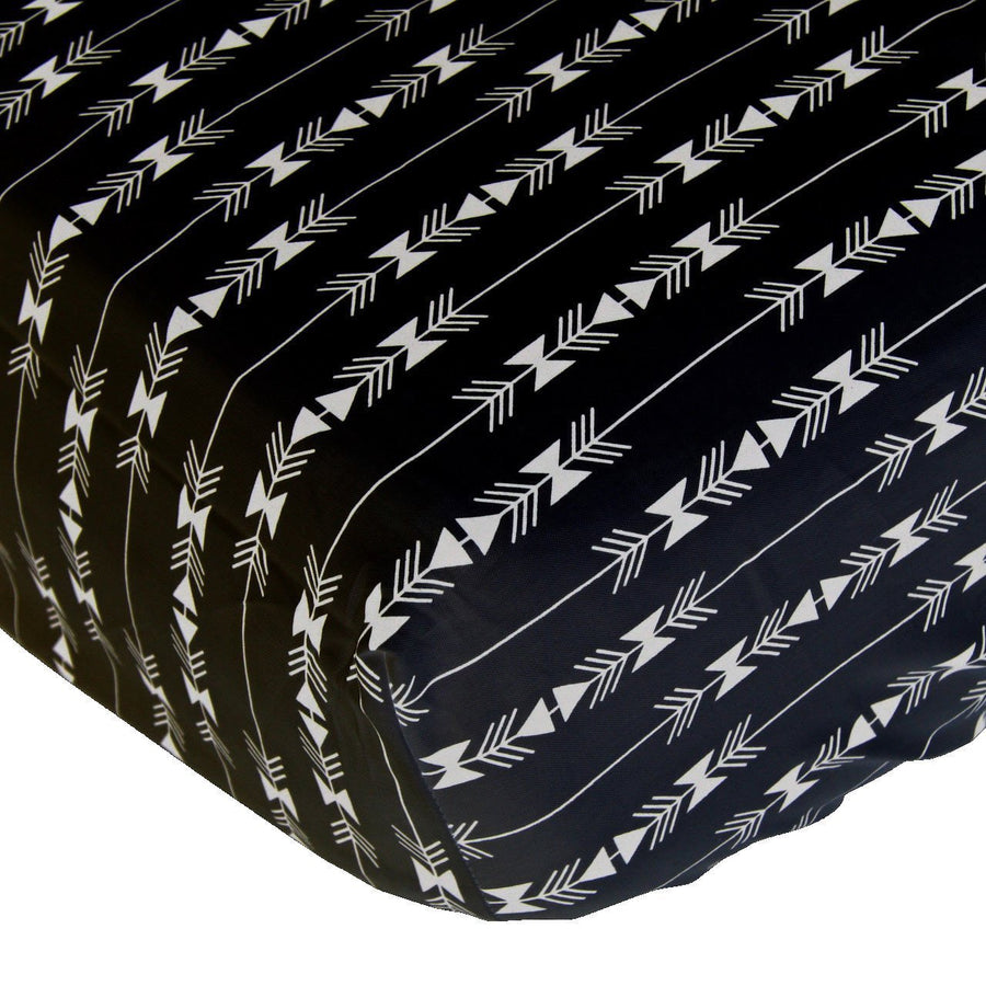 Crib Sheets | White and Black Arrow Aztec-Crib Sheets-Default-Jack and Jill Boutique