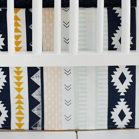 Crib Skirt | Aztec Arid Horizon-Crib Skirt-Jack and Jill Boutique