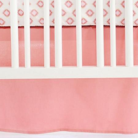 Crib Skirt | Aztec Baby in Coral-Crib Skirt-Jack and Jill Boutique