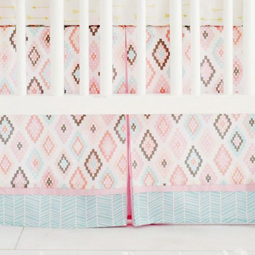 Crib Skirt | Aztec Flight Arrow-Crib Skirt-Jack and Jill Boutique