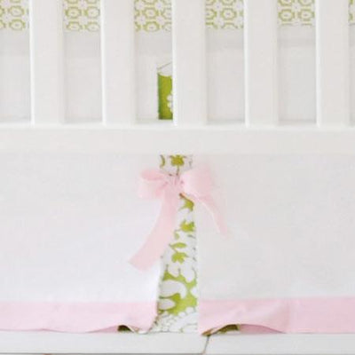 Crib Skirt | Bloom in Pink-Crib Skirt-Jack and Jill Boutique