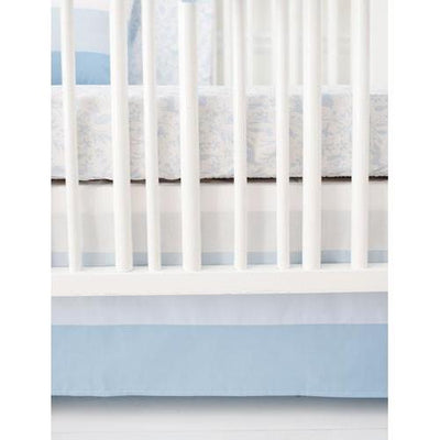 Crib Skirt | Born Wild in Blue-Crib Skirt-Jack and Jill Boutique