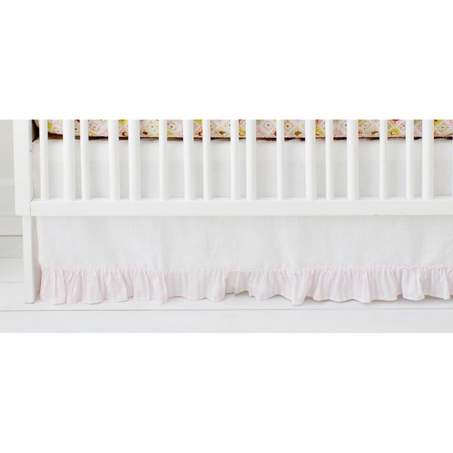Crib Skirt | Born Wild in Pink-Crib Skirt-Jack and Jill Boutique