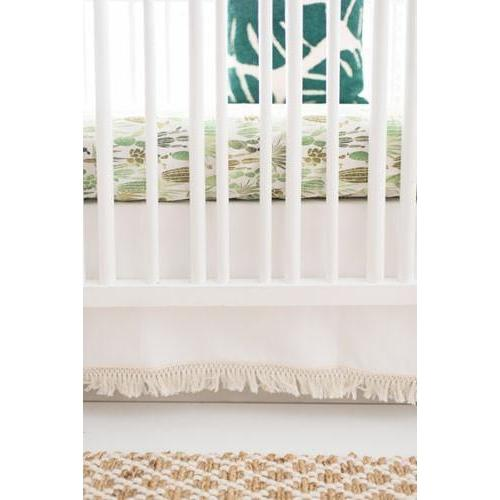 Crib Skirt | Cactus Desert Dawn in Earth Baby Bedding Set
