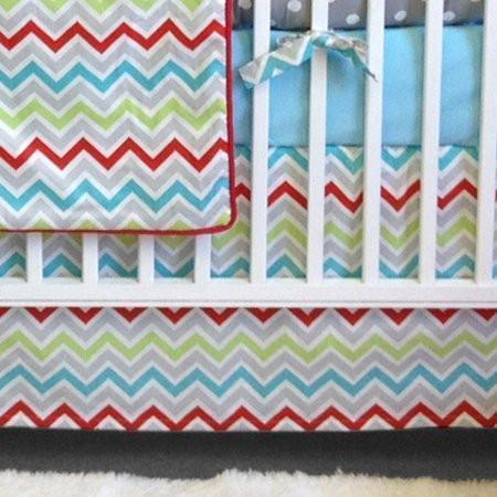 Crib Skirt-Jack and Jill Boutique-Crib Skirt | Calypso Luxury Baby Bedding Set