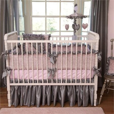 Crib Skirt | Charlotte Luxury Baby Bedding Set-Crib Skirt-Jack and Jill Boutique