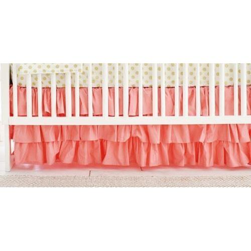 Crib Skirt | Coral Ruffled