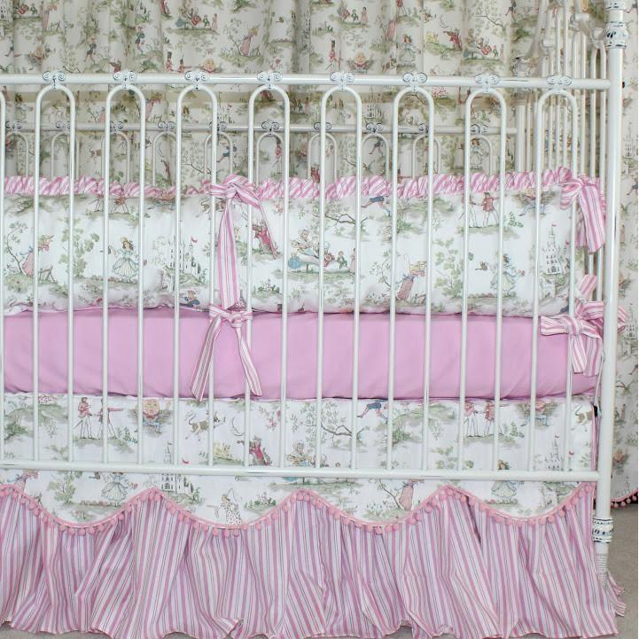 Crib Skirt - Cow Jumped Over the Moon Baby Bedding-Crib Bedding Set-Bold Bedding-Jack and Jill Boutique