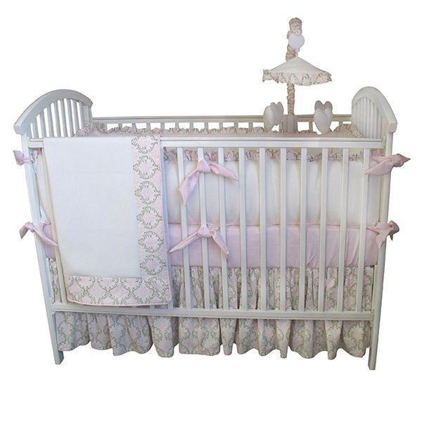 Crib Skirt | Emma Luxury Baby Bedding Set-Bumper-Jack and Jill Boutique