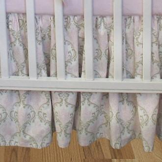 Crib Skirt-Jack and Jill Boutique-Crib Skirt | Emma Luxury Baby Bedding Set
