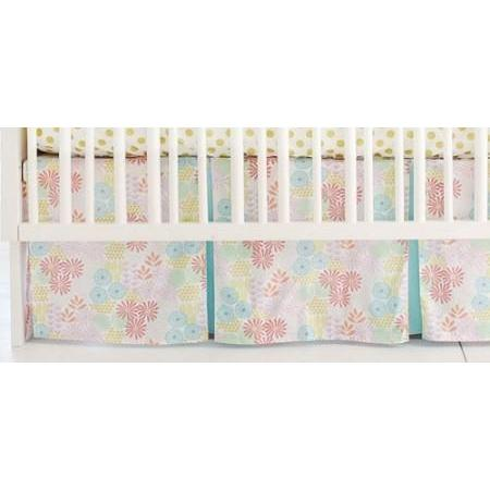 Crib Skirt | Floral Glitz Garden-Crib Skirt-Jack and Jill Boutique