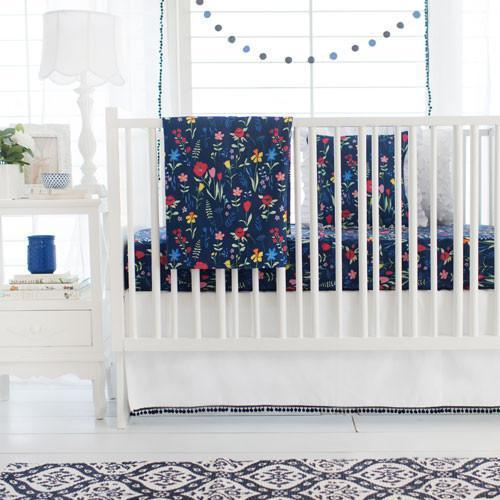 Crib Skirt | Floral Poppyfield-Crib Skirt-Jack and Jill Boutique