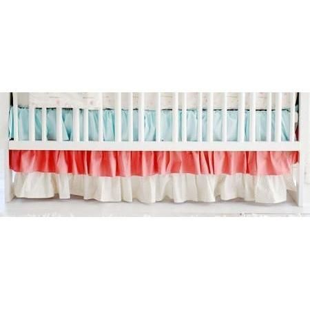 Crib Skirt | Floral Rosemilk-Crib Skirt-Jack and Jill Boutique