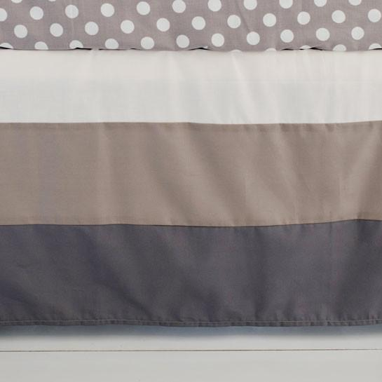 Crib Skirt | Grey Ombre-Crib Skirt-Jack and Jill Boutique