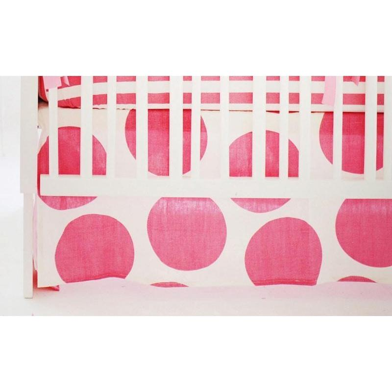 Crib Skirt | Hot Pink Spot On Fuchsia-Crib Skirt-Jack and Jill Boutique