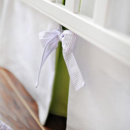 Crib Skirt | Lavender Damask Sweet Violet