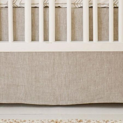 Crib Skirt Linen | Arrow Be Brave-Crib Skirt-Jack and Jill Boutique